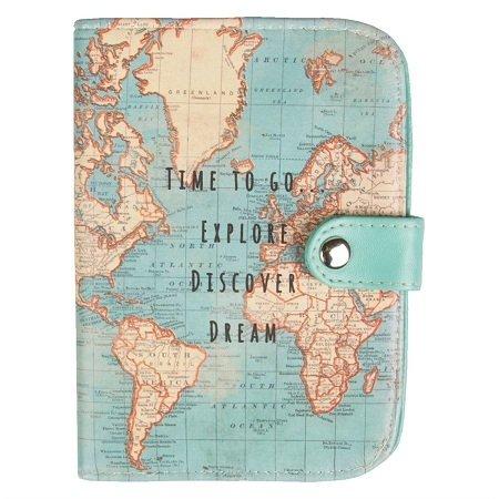Dünya Haritası Pasaport Cüzdani