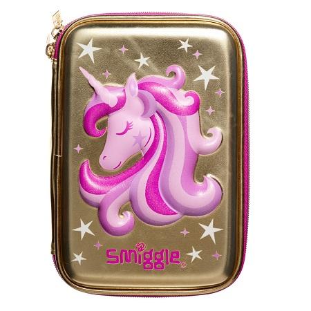 Smiggle Gold Unicorn Kalemkutusu